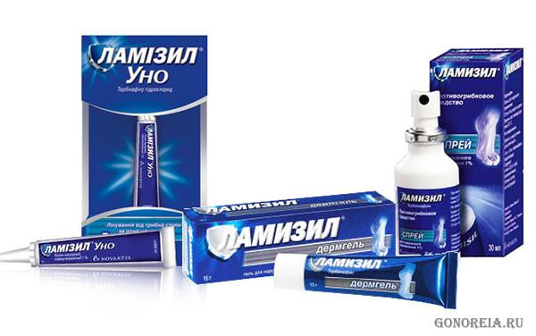 Некоторые формы препарата ламизил: Уно, дермгель, спрей
